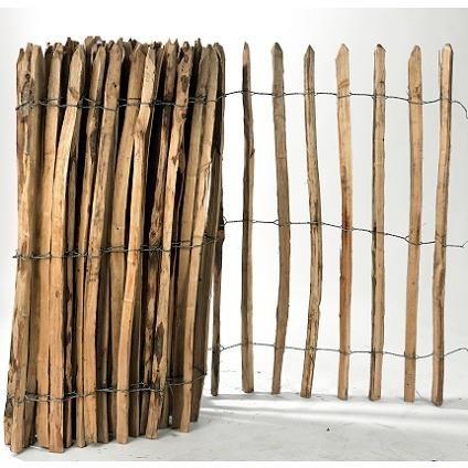 Clôture en bois de châtaignier 100 cm x 10 m   Brico ...