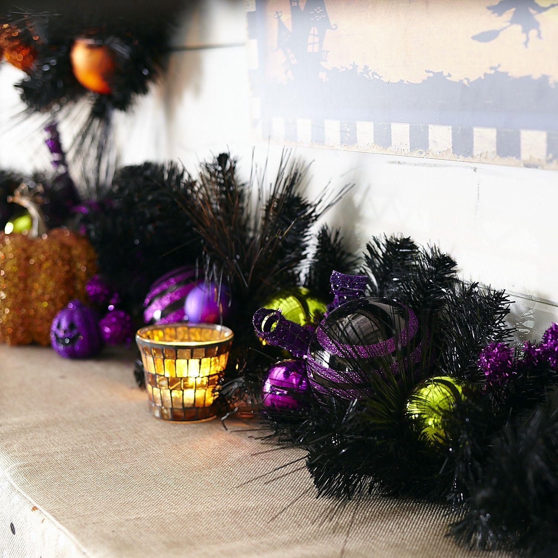 purple green ball garland pier 1 imports - Pier 1 Halloween