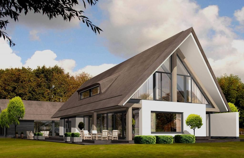 Herwersdonker huizen pinterest huizen architectuur en gevel for Moderne stijl gevel