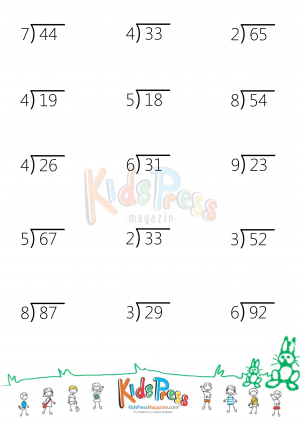 Two Digit By One Digit Division With Remainders Kidspressmagazine Com Division Worksheets Division With Remainders Worksheet Remainders
