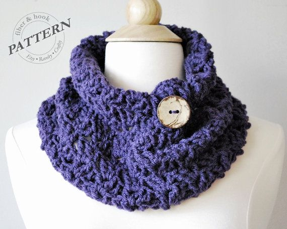 Crochet Pattern Autumn Cowl Crochet Cowl Pattern Easy Crochet
