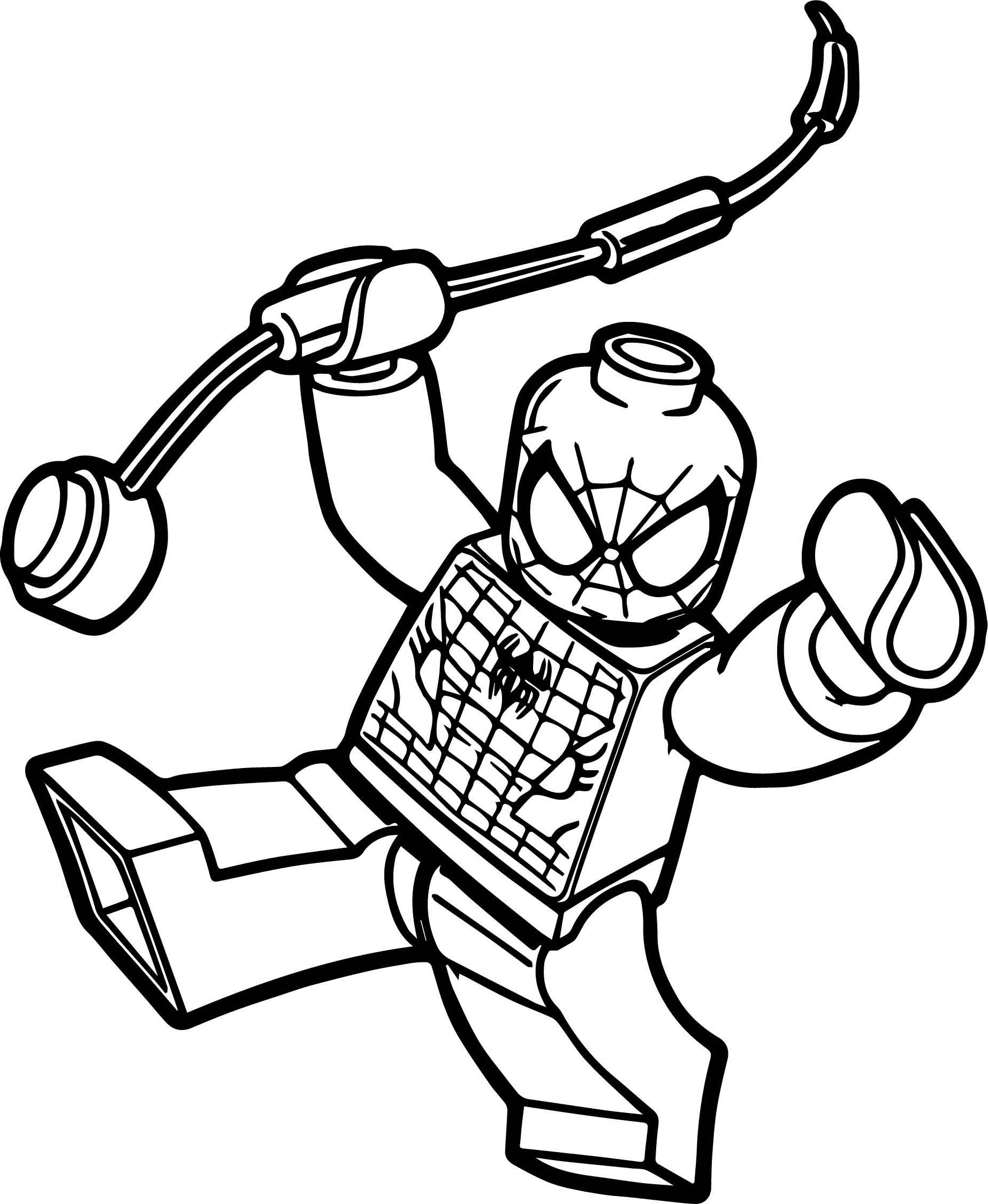 It's just a picture of Old Fashioned Lego Spiderman Coloring Page