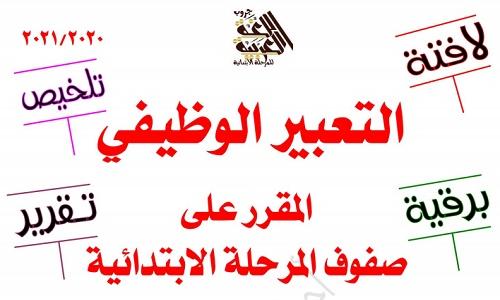 مذكرة تعبير وظيفي للمرحلة الابتدائية Pdf لافتة تلخيص برقية تقرير نتعلم ببساطة Math Arabic Calligraphy Calligraphy