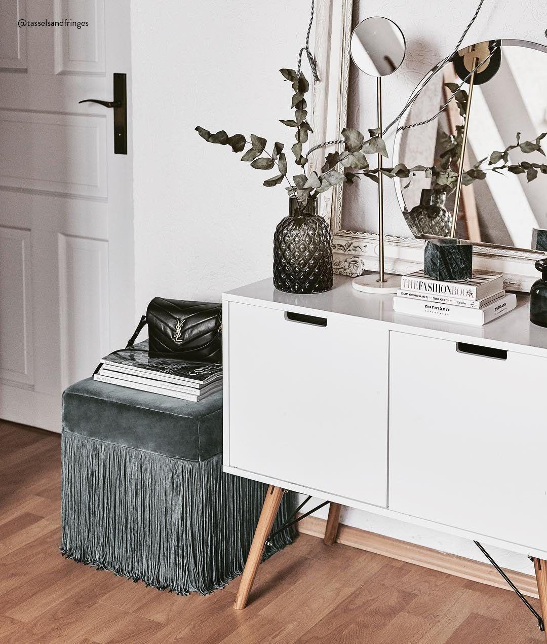Kerzen Deko Schlafzimmer: Fransen-Hocker Alison In 2019
