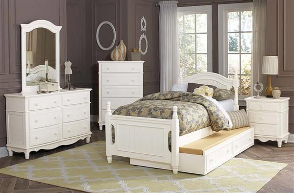 Clementine Classic White Wood Kids Bedroom Sets Baby  Kids room