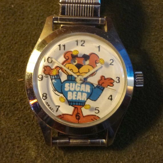 Vintage Sugar Bear Wrist Watch Child's Size Post Super