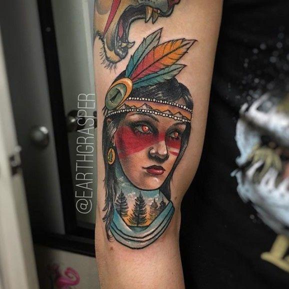 Charming Native girl.