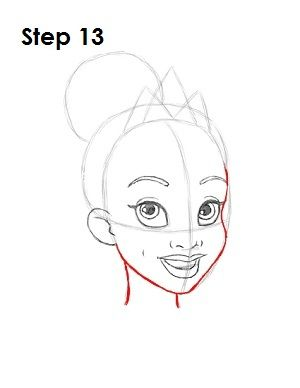 How to Draw Tiana Step...