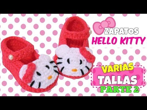 Zapatitos de Hello Kitty tejidos a crochet | parte 1/2 - YouTube ...