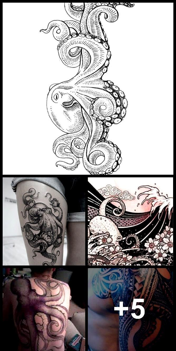 Waves 02 – Japanese Tattoo Style Original Sketch Drawing – Waves, Octopus, Cherry Blossom, Mo…