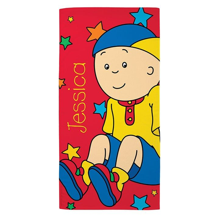 Shop Caillou Personalized Beach Towel Beach Towel Caillou