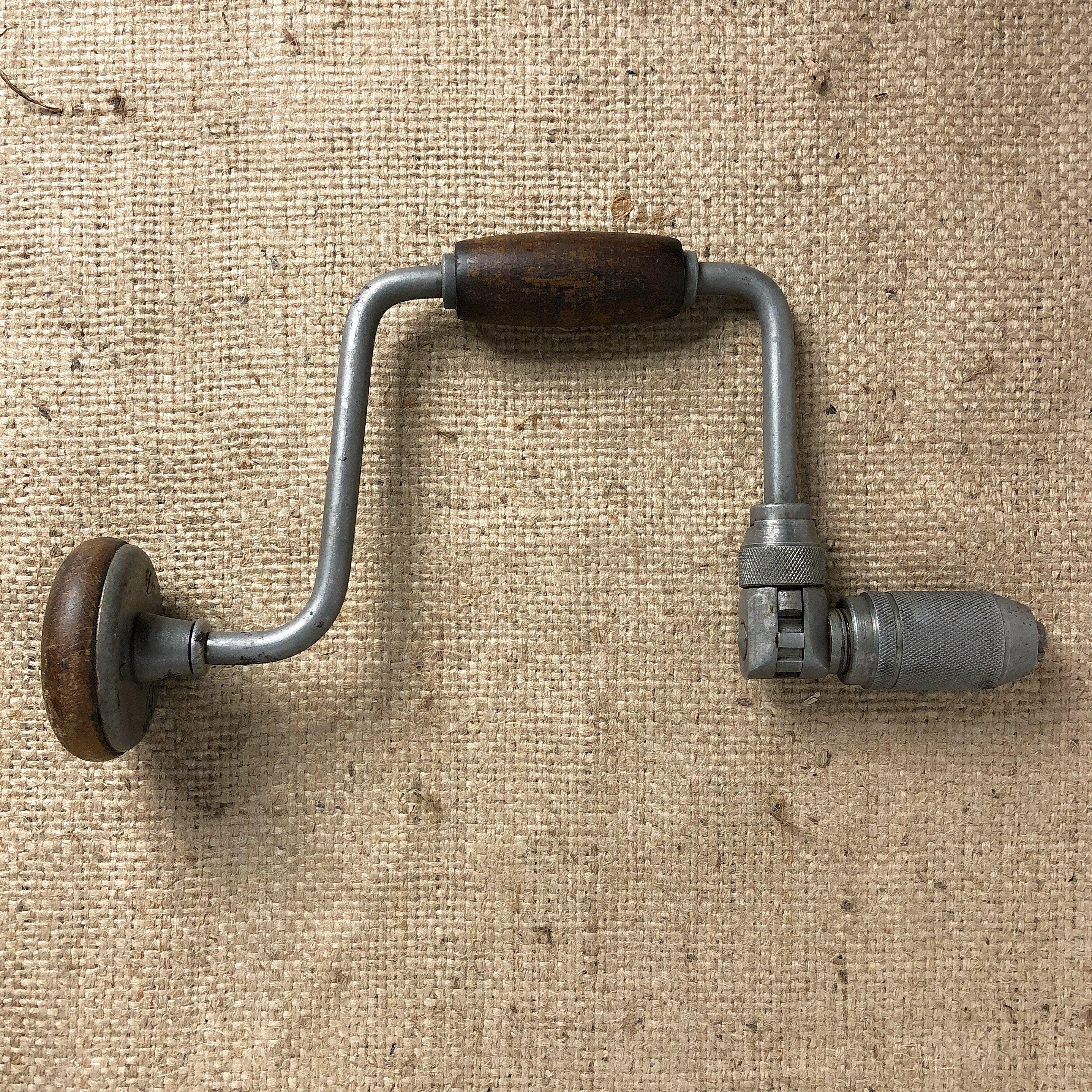 Vintage Brace Bit Hand Drill Made In