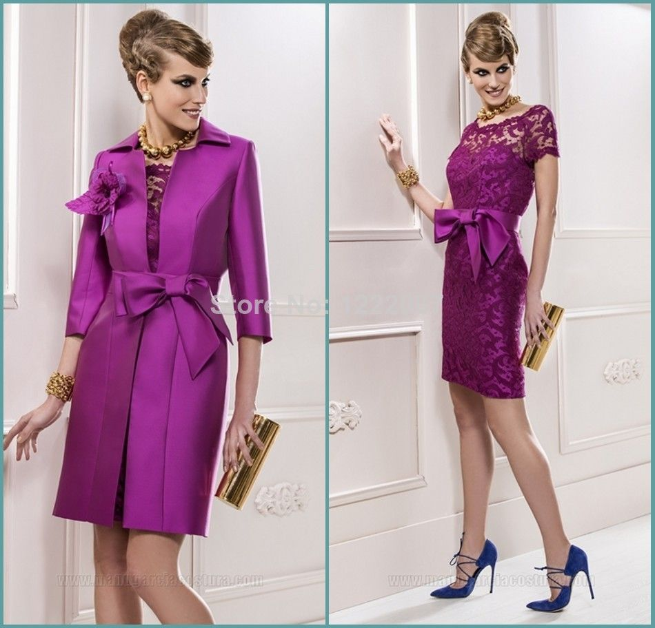 Gorgeous plus size mother of the bride jacket dresses two piece
