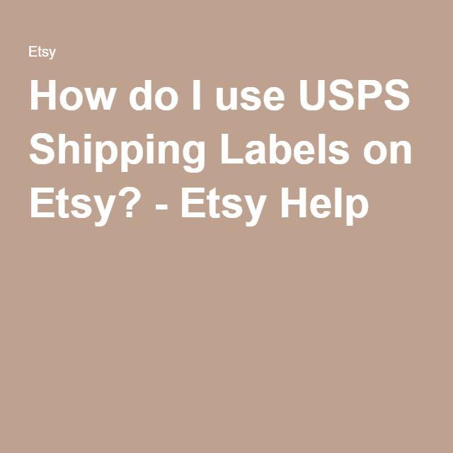 How Do I Use USPS Shipping Labels On Etsy?