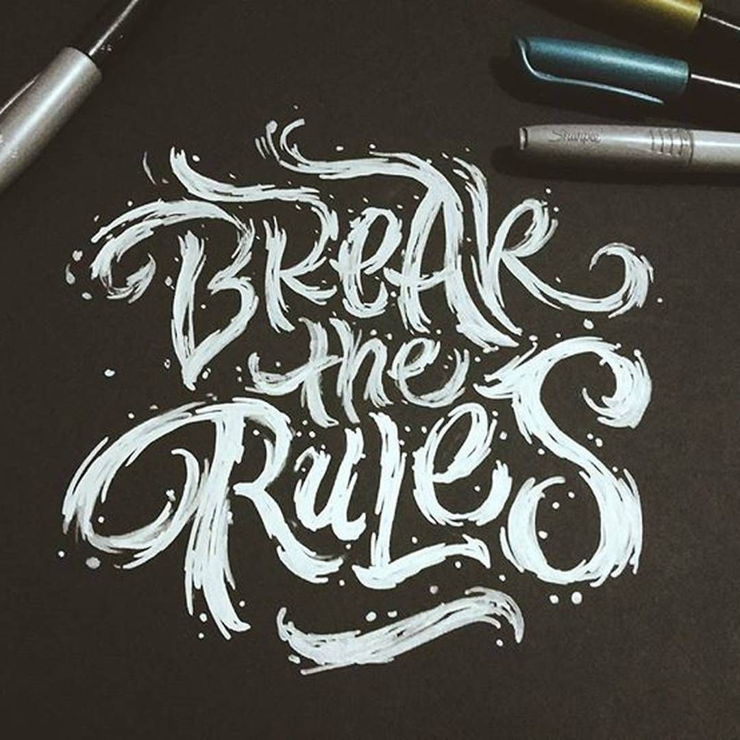 Just break the #rules with @amazink_mad #handmadefont