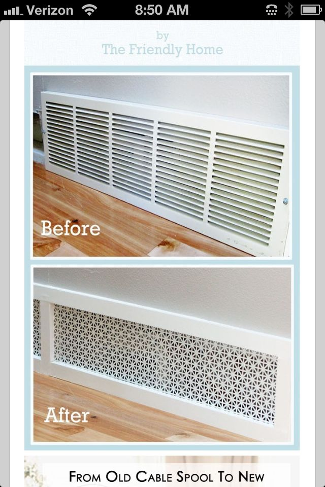 Much Better Looking Return Air Vent Cover You Can Buy