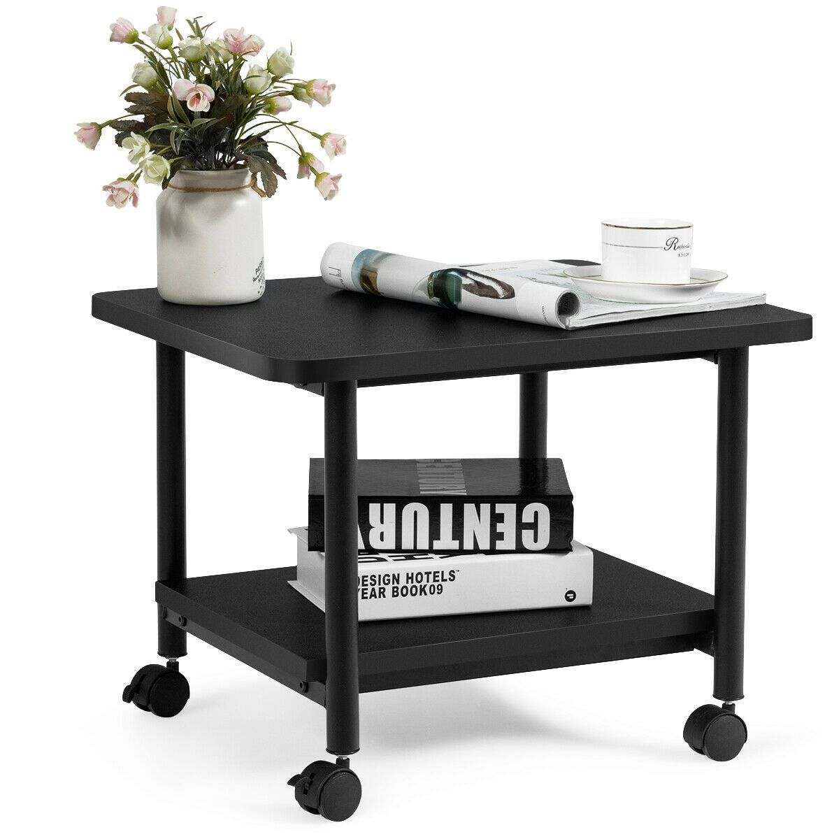 Under Desk Printer Stand With 360 Swivel Casters Casters Desk Officeorganizationatworkp In 2020 Printer Stand Swivel Casters Office Organization At Work
