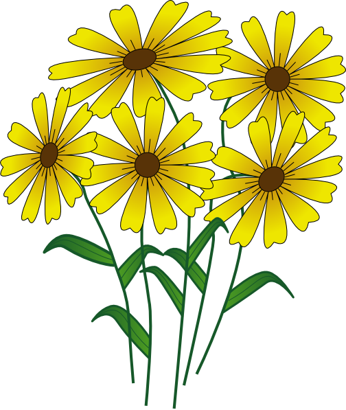 Cartoon flowers clip art flowers clip art vector clip for Drawings of cartoon flowers