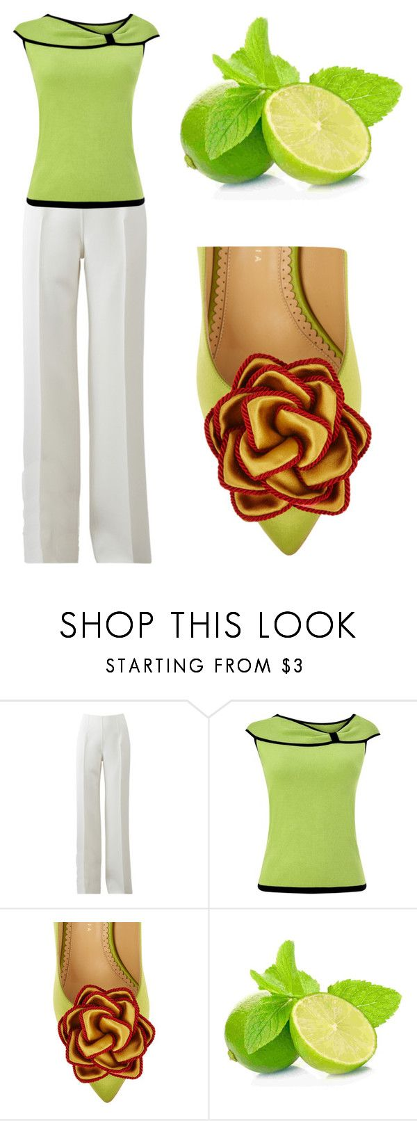 """""""Lime"""" by ashly-allen ❤ liked on Polyvore featuring Michael Kors, Precis Petite and Charlotte Olympia"""