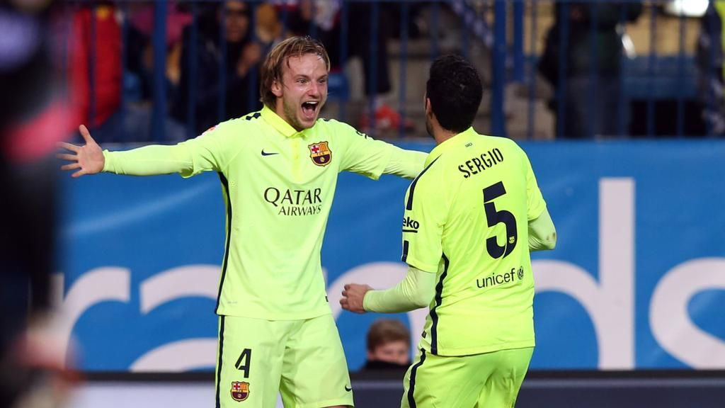 28.01.2015 Barça qualify for the Spanish Cup semi-finals! Atlético Madrid v FC Barcelona (2-3)