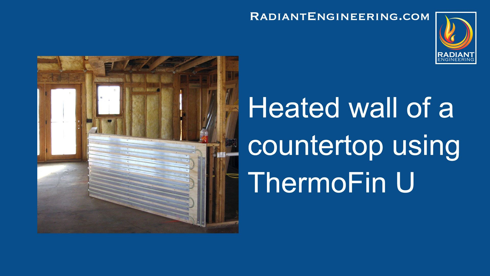 Walls Can Be Heated With Thermofin U Radiant Heat Transfer Plates