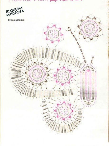 ganchillo y tricot...labores anamary: mariposa crochet   TAPETES ...