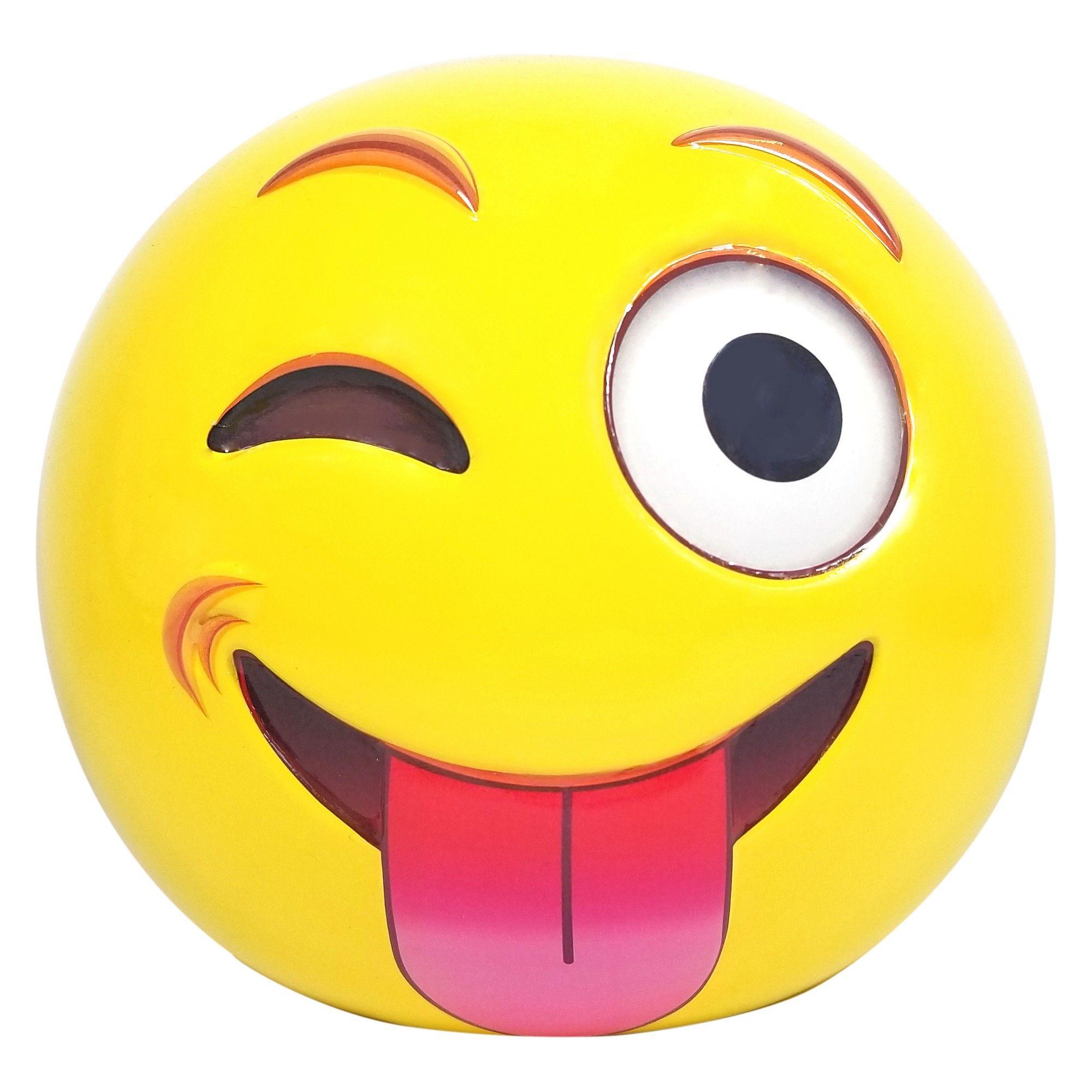 Emoji Express Yourself Coin Bank Yellow Black Red Yellow Emoji