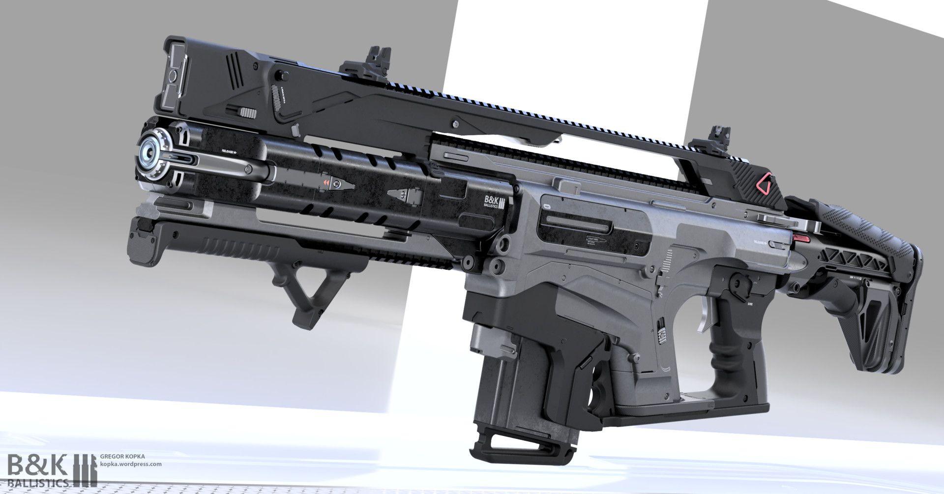 artstation assault rifle concept gregor kopka weps
