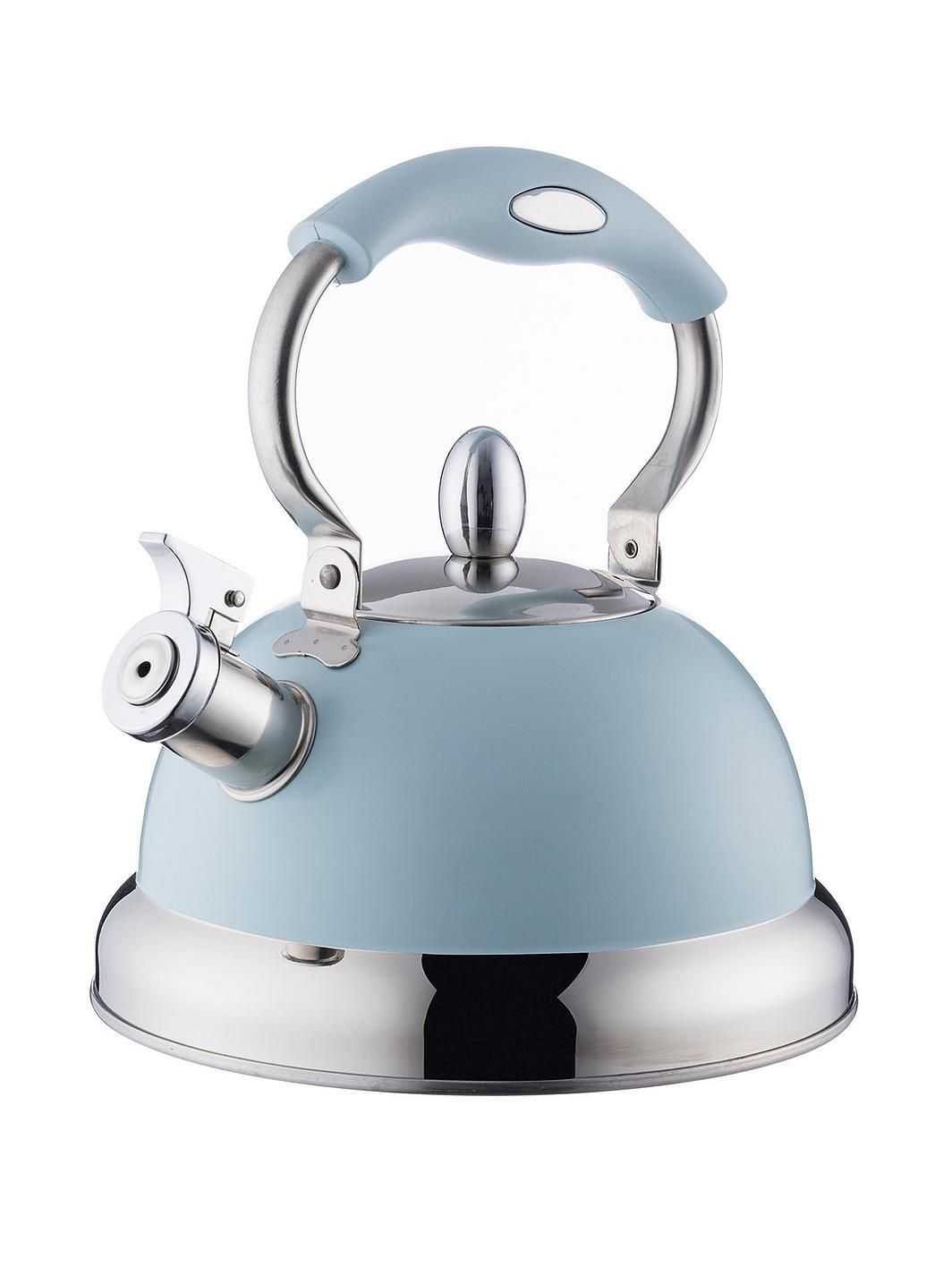 Retro Style 2.5L Whistling Kettle Stainless Steel Available In 4 Colours Blue
