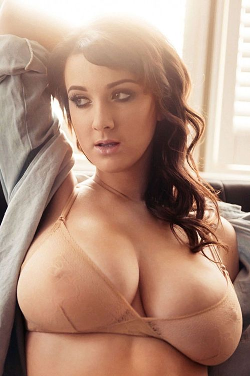 Rock hard nipples showing off her