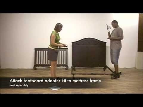 Bratt Decor Chelsea Lifetime Crib To Full Bed Conversion Bed