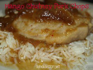 Our House Story: Mango Chutney Pork Chops