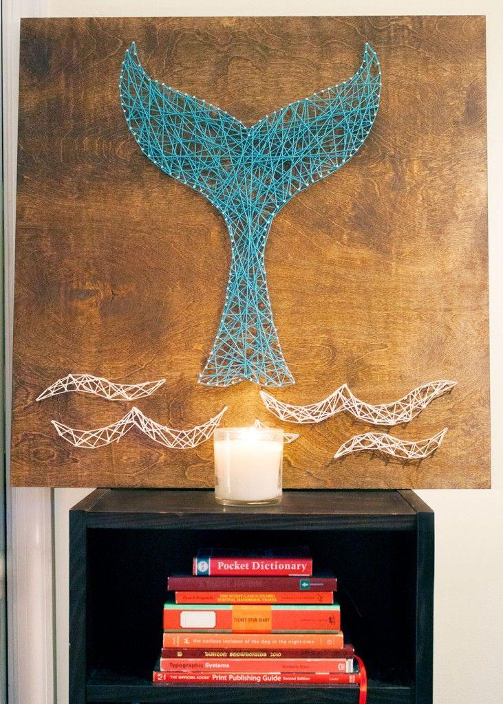 DIY Whale Tail String Art | Kept | Kept Blog Posts ...
