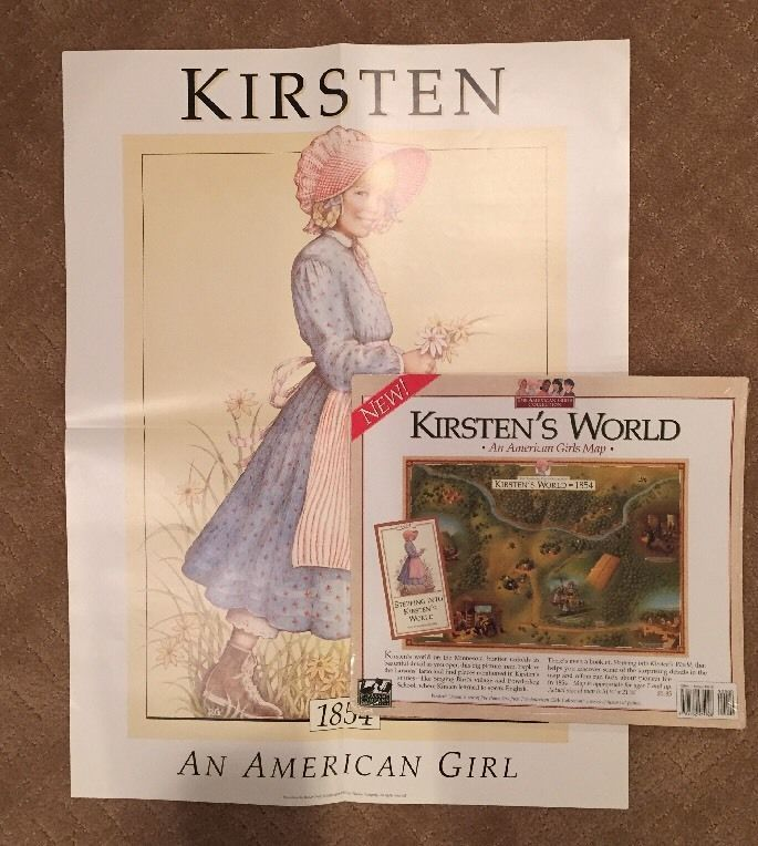 Pleasant company american girl kirsten kirstens world map and pleasant company american girl kirsten kirstens world map and meet poster in kirsten ebay gumiabroncs