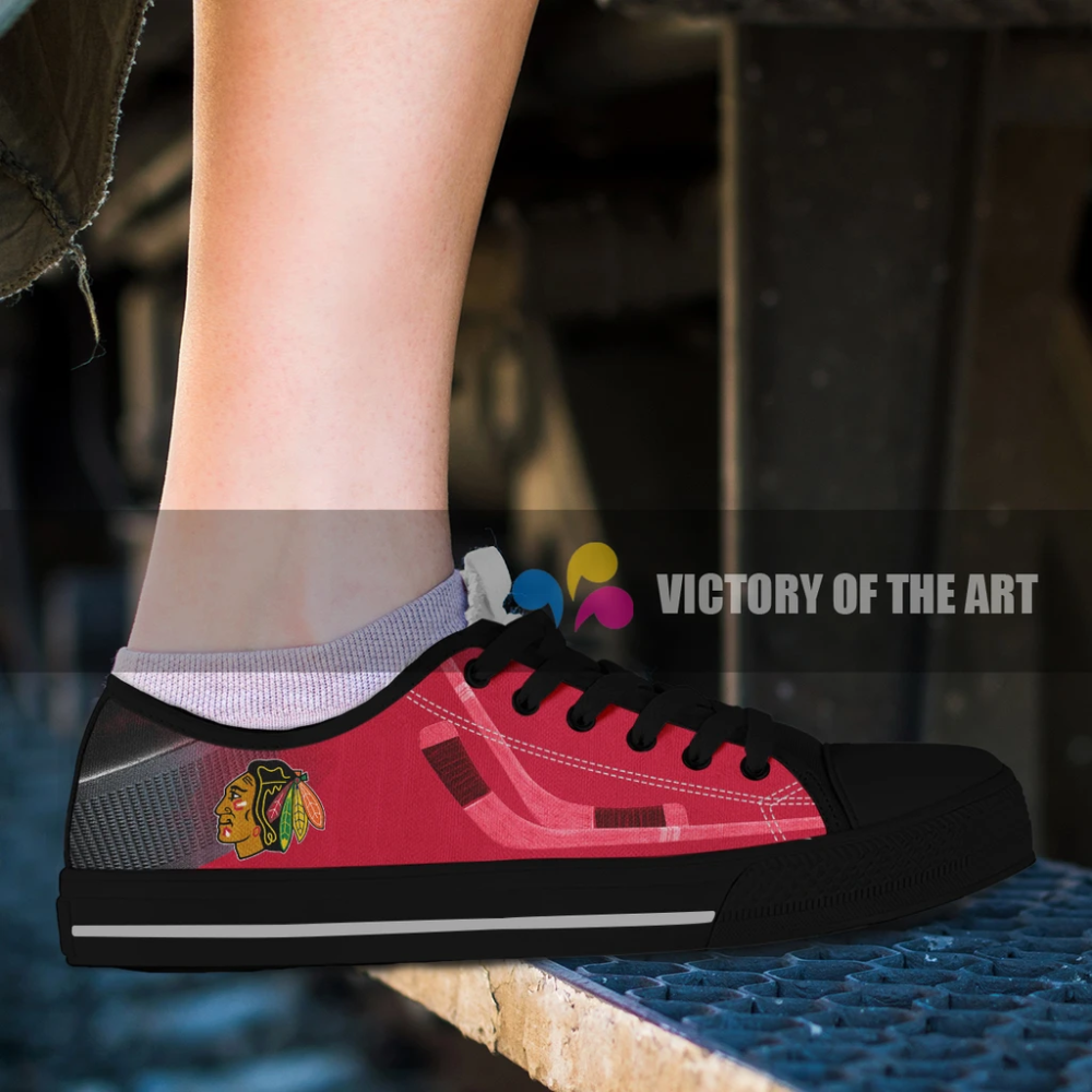 Artistic Pro Chicago Blackhawks Low Top Shoes Top Shoes Oakland Raiders Logo Shoes