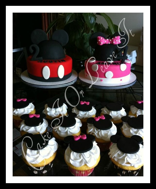 Just what I need, a Mickey and Minnie cake for a joint party.