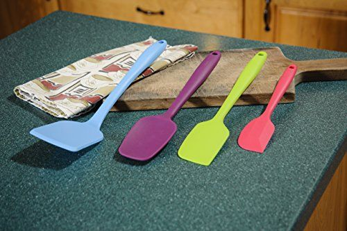 Silicone Spatula by Handy Home Gadgets– Colorful 4 tool set of premium non-stick cooking utensils for all your kitchen needs: baking, mixing, cooking, and decorating– large and small flat scraper spatulas, spoon, turner– best high quality solid one piece  http://www.amazon.com/Silicone-Gadgets-Colorful-non-stick-utensils/dp/B00M0RRNRY