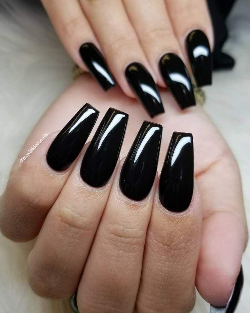Ballerina Nails That S Elegant And Effortles Hike N Dip Black Acrylic Nails Ballerina Nails Acrylic Nails