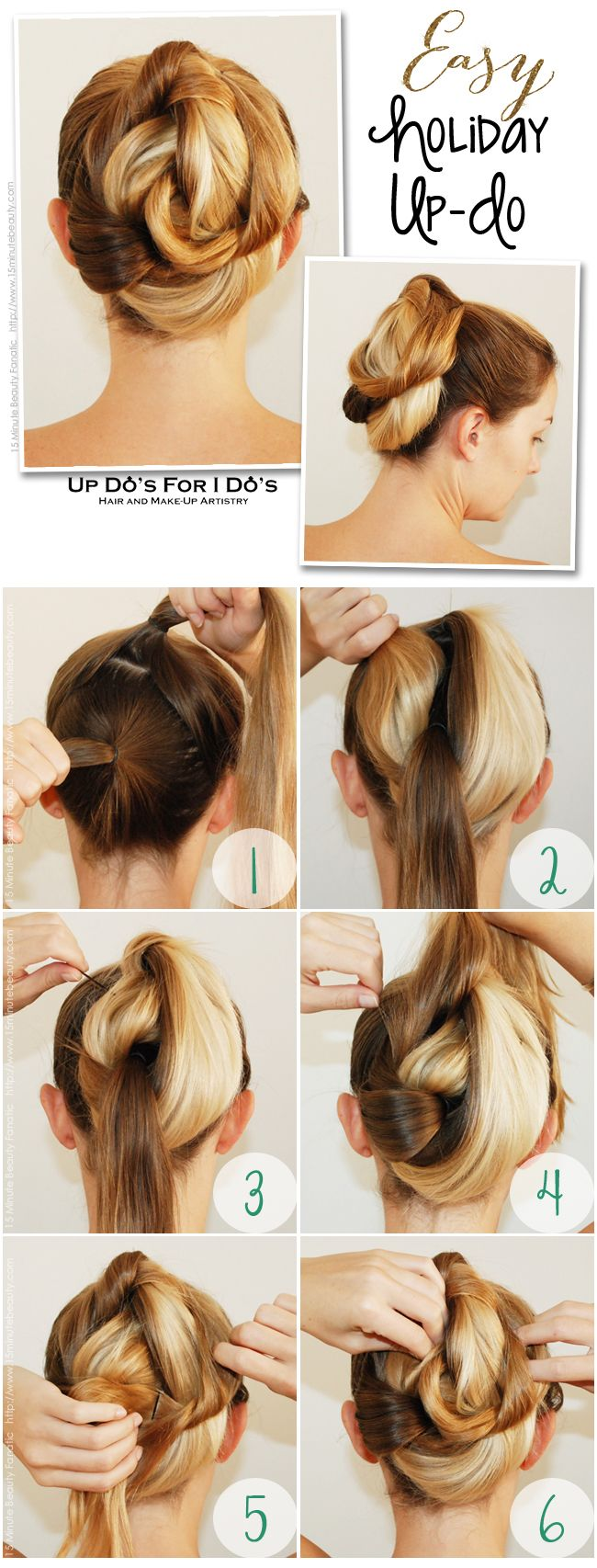 Easy updo hair tutorial that anyone can do wedding pins updo and