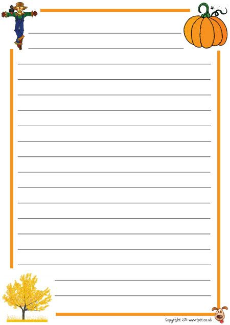 seasonal lined pages English Writing Posters Pinterest - lined page