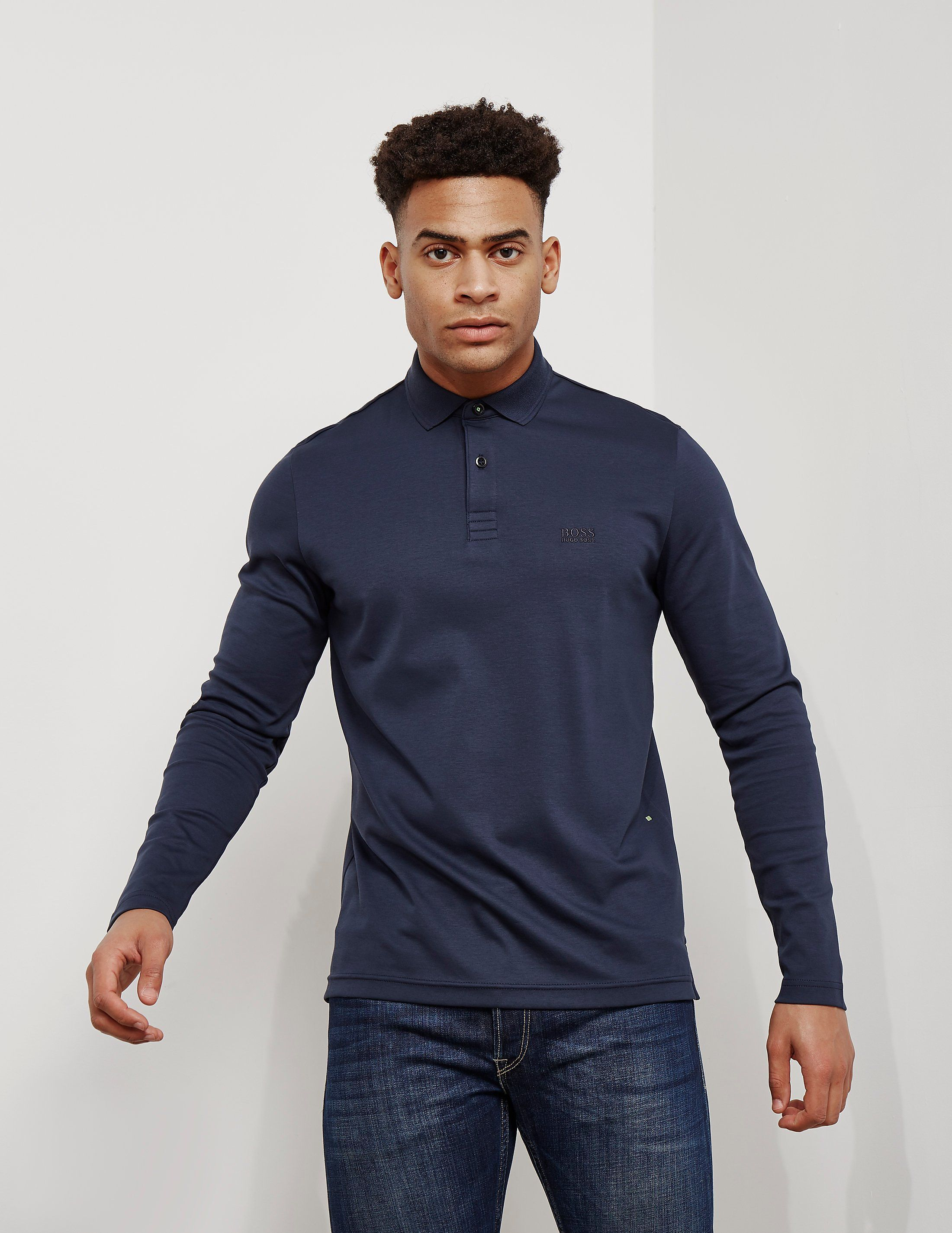 8f58be15 BOSS Pirol Long Sleeve Polo Shirt - available at Tessuti, the luxury  designer retailer for