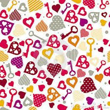 Papel Decorativo Xd Valentines Wallpaper Key Drawings Heart Pattern Background
