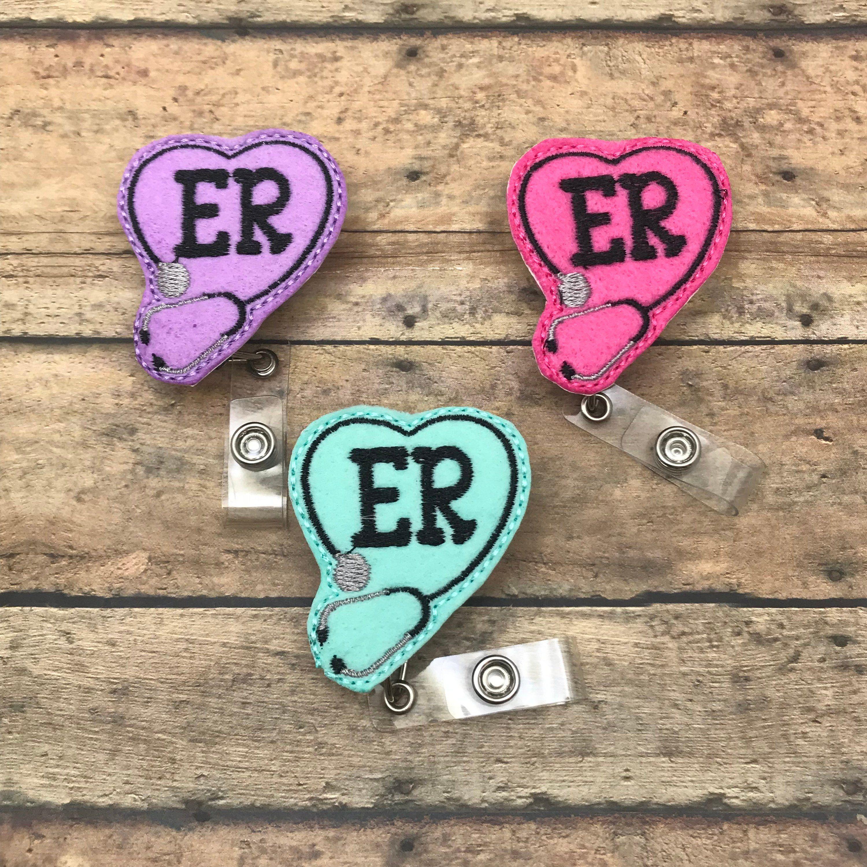ER Badge Reel Id holder Retractable Badge Holder