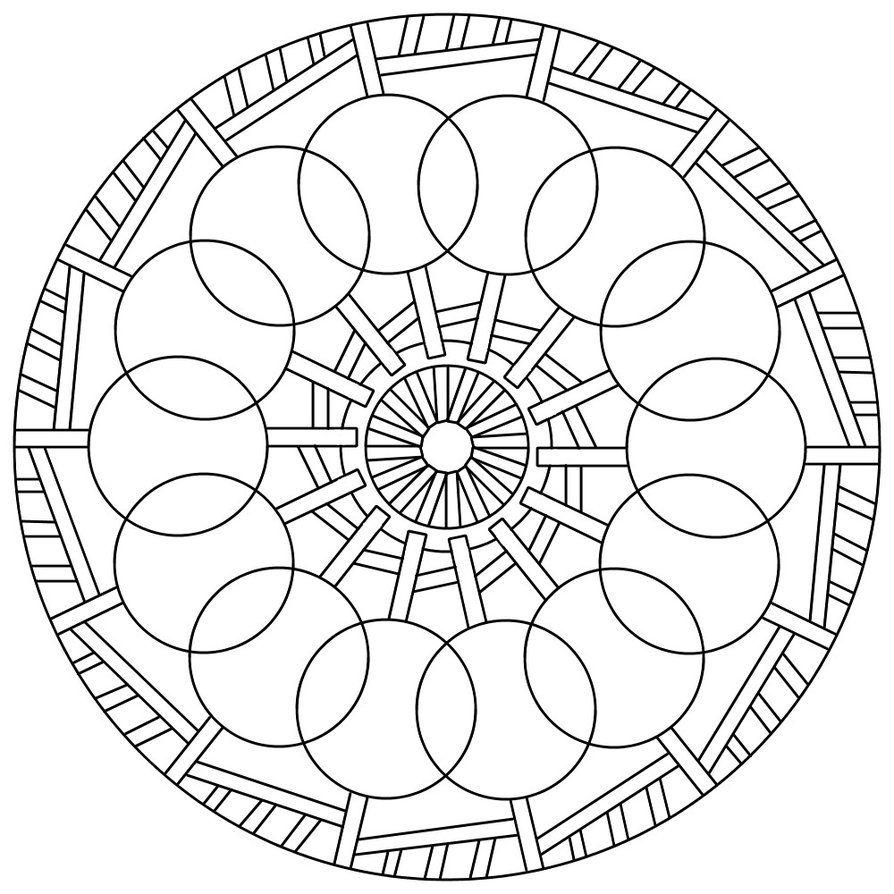 Mandala 80 By Sadadoki On Deviantart Geometric Coloring Pages Mandala Coloring Pages Mandala