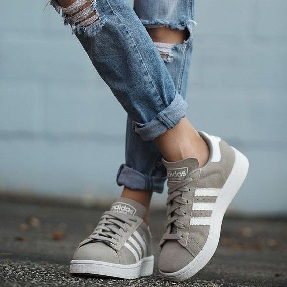 adidas campus femmes grises