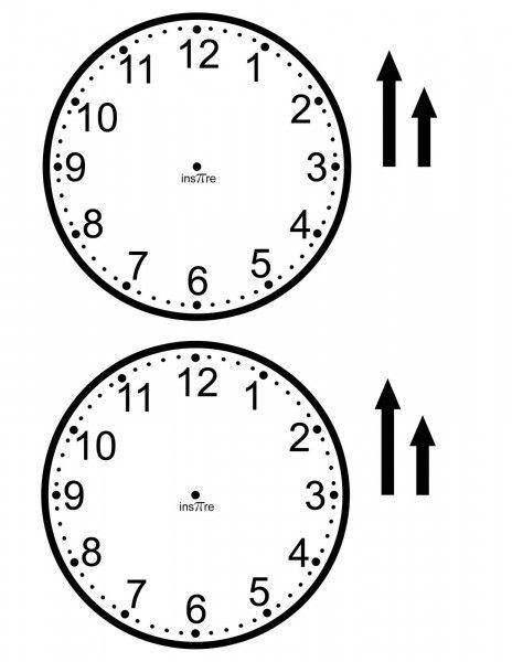 Make Clock Face Template Printable Pinterest Clock faces, Face - clock face template