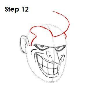 Draw The Joker Step 12 Crafts Drawings Joker Halloween Art