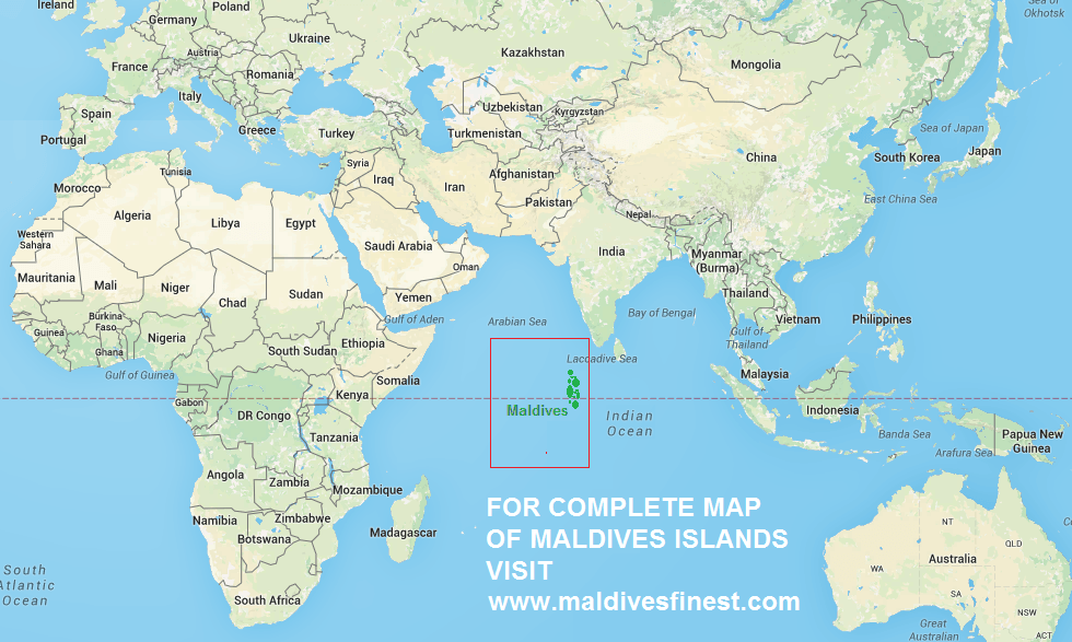 Location Of Maldives On World Map In 2020 Where Is