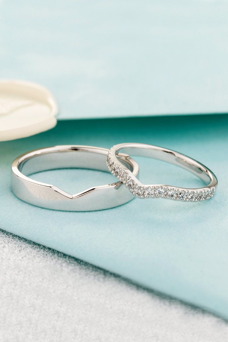 Diamond Wedding Bands Matching Wedding Rings Unique Wedding Bands Jewelry Wedding In 2020 Wedding Rings Sets His And Hers Couple Wedding Rings Wedding Ring Sets