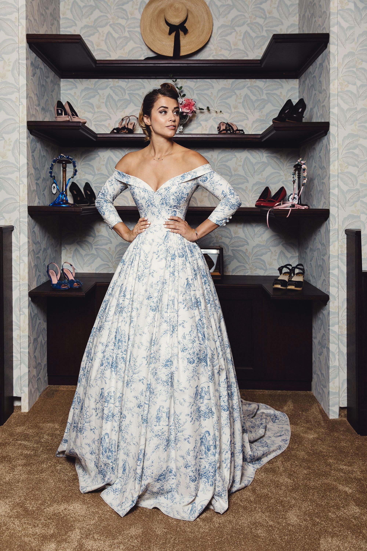 Lena Hoschek Bleu Toile Couture Gown Provence Collection Non Traditional Blue Wedding Dre Fancy Dresses Nontraditional Wedding Dress Bridal Gowns Vintage [ 3000 x 2000 Pixel ]